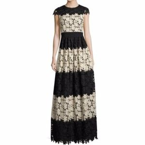 Alice & Olivia Noel Colorblock Lace Gown NWT sz 2